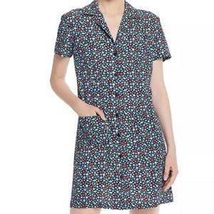 French Connection Ditsy Floral Pocket Shirt Dress
